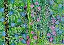 Quilt, Blatt und Blüte